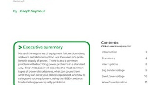 WP 18 The Seven Types of Power Problems