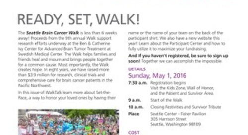 Seattle Brain Cancer Walk - WalkTalk - March 2016