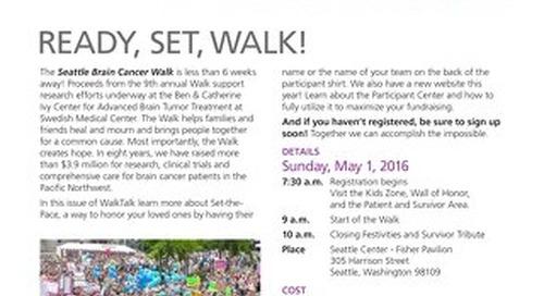 Seattle Brain Cancer Walk - WalkTalk - March 2016
