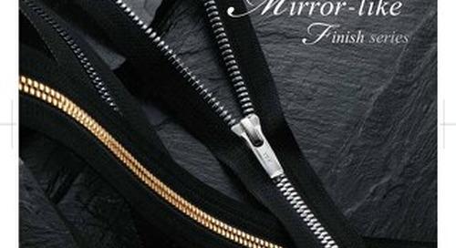 Mirror-Like finish zipper