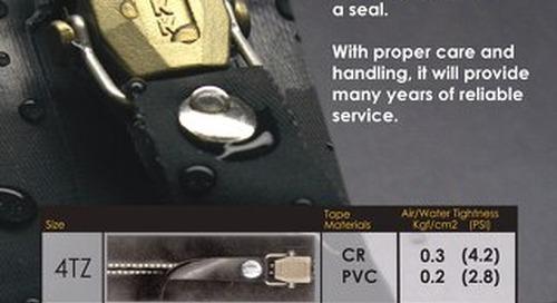 PROSEAL® Air / Water tight zipper