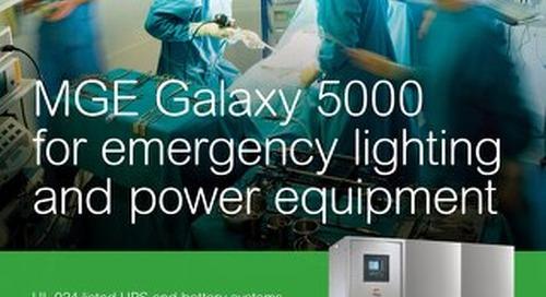 MGE Galaxy 5000 Emergency Lighting Brochure
