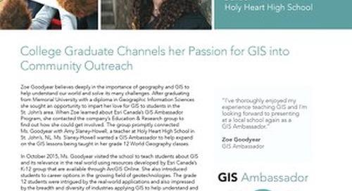 GIS Ambassador Profile - Zoe Goodyear