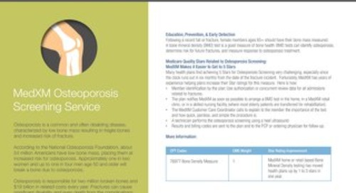 Osteoporosis Screening Information