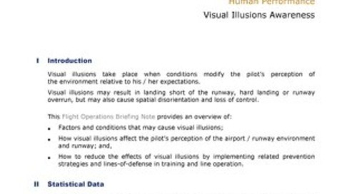 Human Performance Visual Illusions Awareness