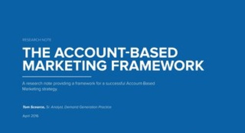 The Account-Based Marketing Framework
