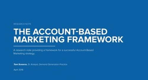 The Account-Based Marketing Framework