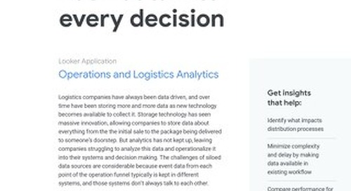 Looker for Operations and Logistics Analytics