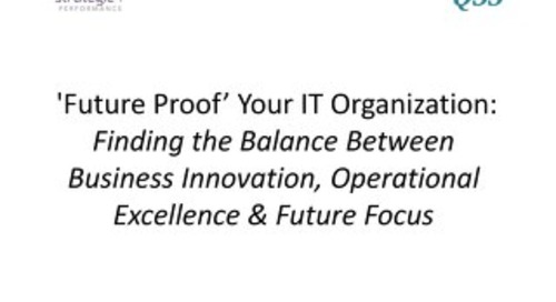 'Future Proof' Your IT Organization