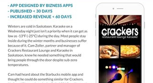 Mobile Apps for Small Business: Crackers Restaurant