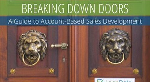 Breaking Down Doors: A Guide to Account-Based Sales Development