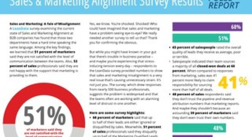 Sales and Marketing Alignment Survey Pulse Report