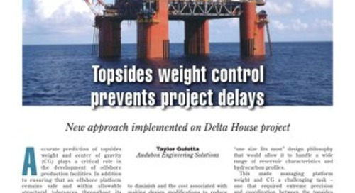 Article: Topsides Weight Control Prevents Project Delays