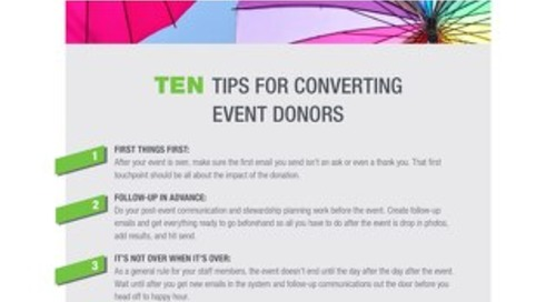 10 Tips for Converting Event Donors