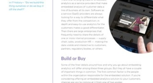 Embedded Analytics: Beyond Build versus Buy
