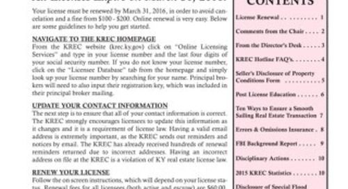 2016 KREC Newsletter 1 - Winter