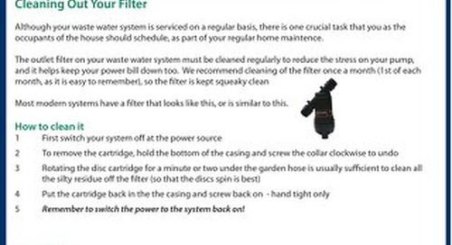 Cleaning out your filter