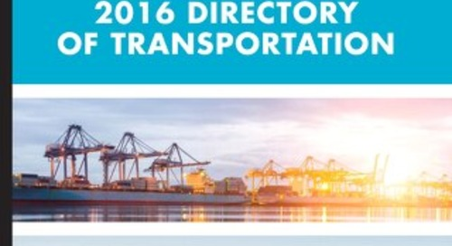 The Directory of Transportation Vol.1, 2016