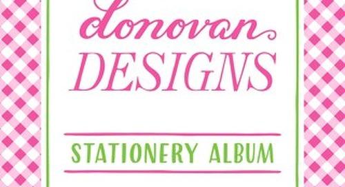 2016 DONOVAN STATIONERY ALBUM