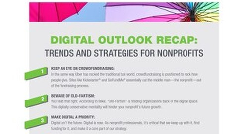 DIGITAL OUTLOOK RECAP: 8 TRENDS AND STRATEGIES FOR NONPROFITS