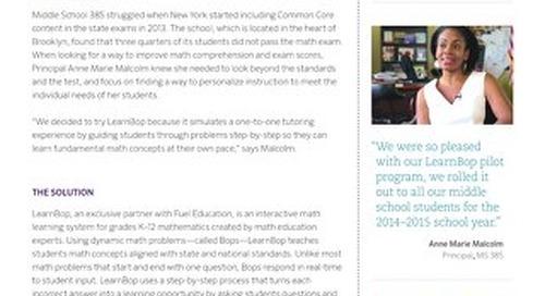 Middle School 385 LearnBop Case Study