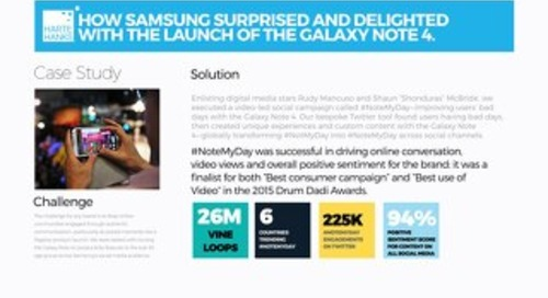 How Samsung surprised and delighted customers with launch of the Galaxy Note 4.