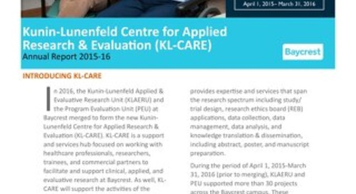KL-CARE 2015-16 Annual Report