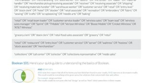 Retail Customer Service Boolean Search Flyer