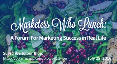 Marketers Who Lunch - July 28, 2016