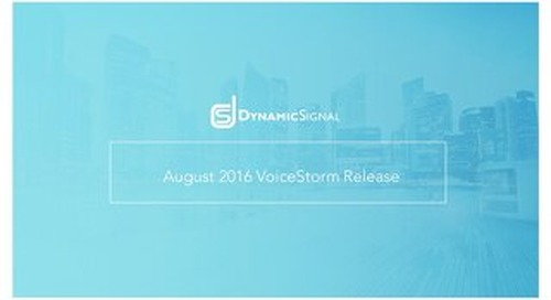 August 2, 2016 Feature Release