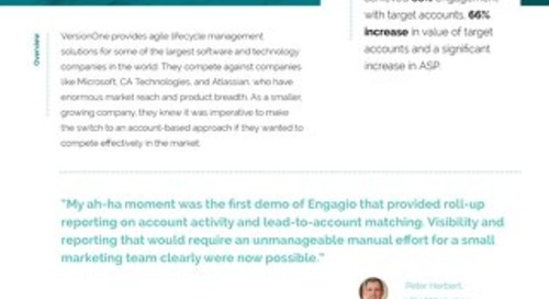Engagio Case Study | VersionOne