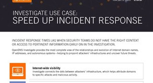 Use Case: Speed Up Incident Repsonse
