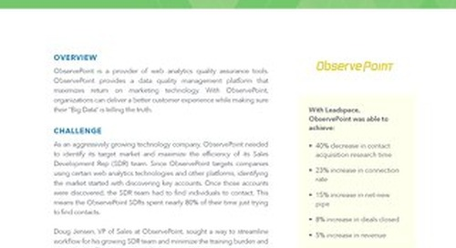 Leadspace Observepoint CaseStudy