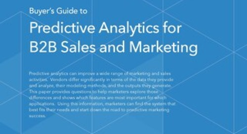 Buyer's Guide to Predictive Analytics for B2B Sales and Marketing