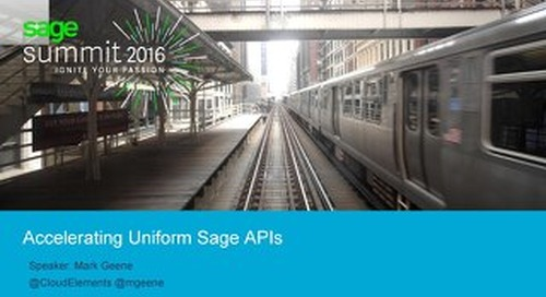 Accelerating Uniform Sage APIs | Sage Theater Expo