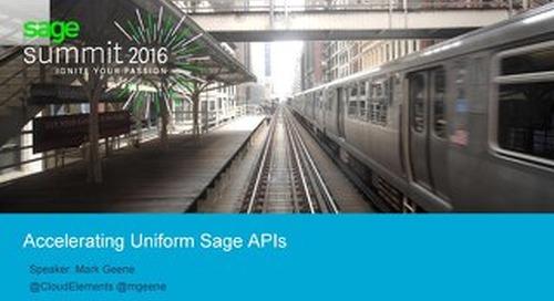 Accelerating Uniform Sage APIs | Sage Theater Expo
