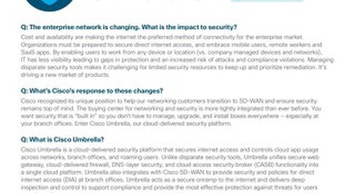 Cisco Umbrella FAQs