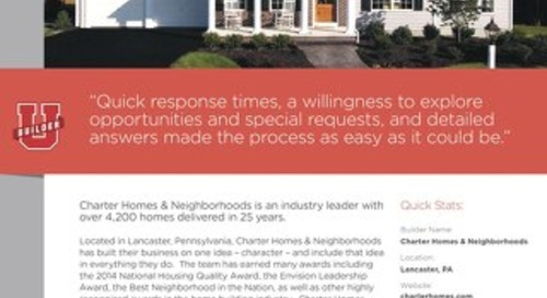 CASE STUDY: Charter Homes