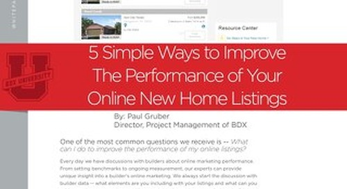 Improve Your New Home Listings