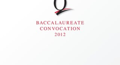 Queens College Baccalaureate Convocation 2012