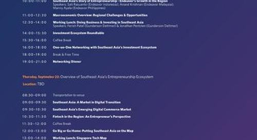 Endeavor Investor Network SE Asia Agenda