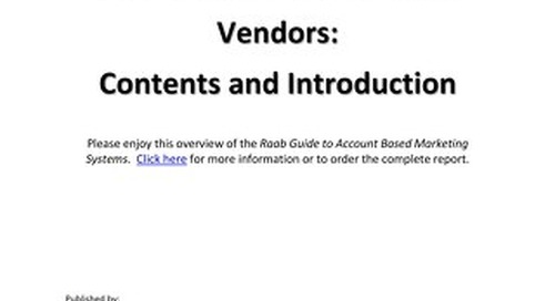 Account Based Marketing Guide Overview - Raab Associates