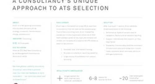 Elixirr Consultancy's Unique Approach to ATS Selection