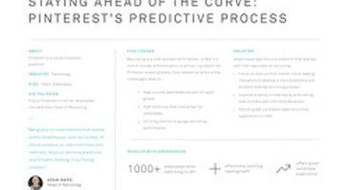 Staying Ahead of the Curve: Pinterest's Predictive Process