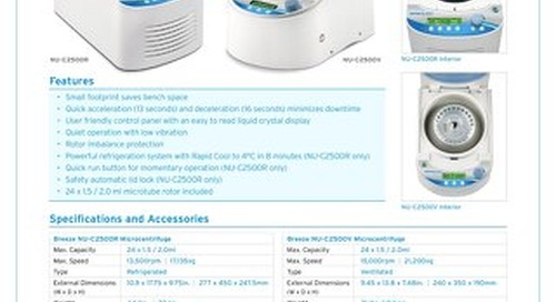 [Flyer] Breeze Microcentrifuges