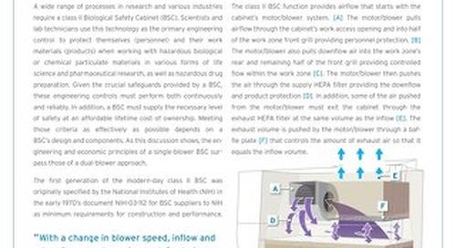 [White Paper] Biosafety Cabinet Single Motor versus Dual Motors