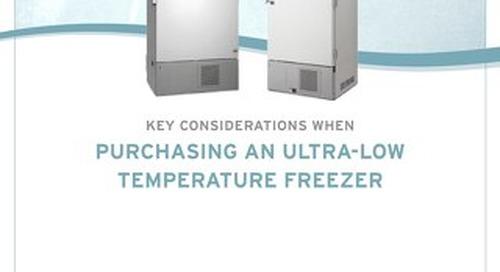 [White Paper] Ultralow Freezer Buying Guide