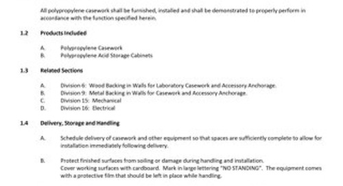 [Spec] Polypropylene Casework Specification