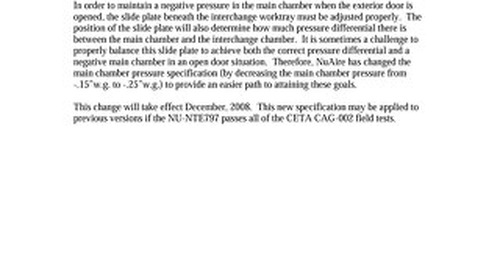 [Bulletin] NU-NTE797 Main Chamber Pressure Specification Change