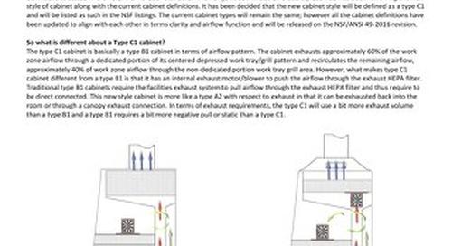 [Bulletin] Clarifying the Class II, Type C1 Biosafety Cabinet